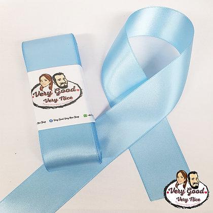 Double Sided Satin Ribbon Light Blue