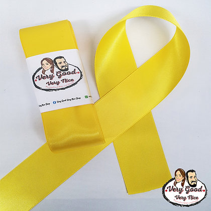 Double Sided Satin Ribbon Yellow