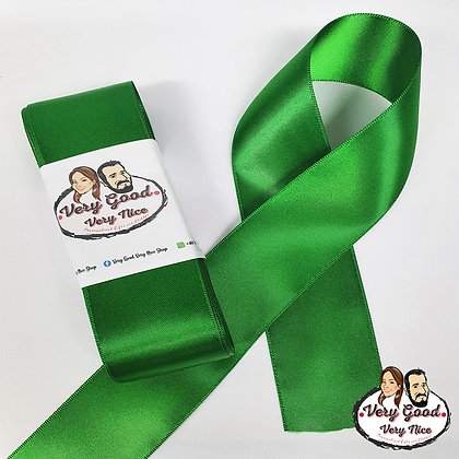 Double Sided Satin Ribbon Green