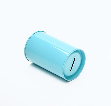 Blue Tin Money Box