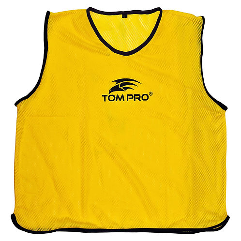 5 X Tompro AirPlus Training Mesh Bibs Vests Yellow Mens One Size