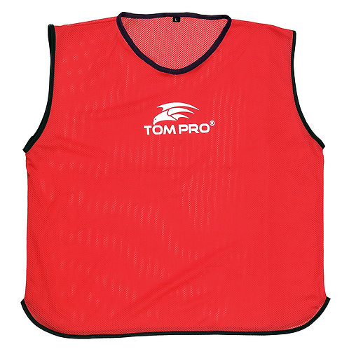 5 X Tompro AirPlus Training Mesh Bibs Vests Red Mens One Size