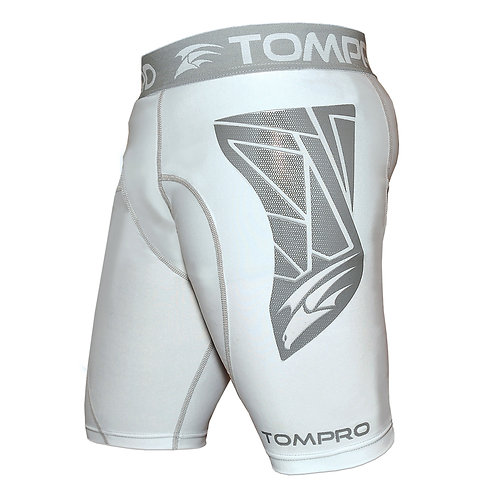 Tompro CarbonShield Compression Base Layer Short Thermal Under Gear Mens White