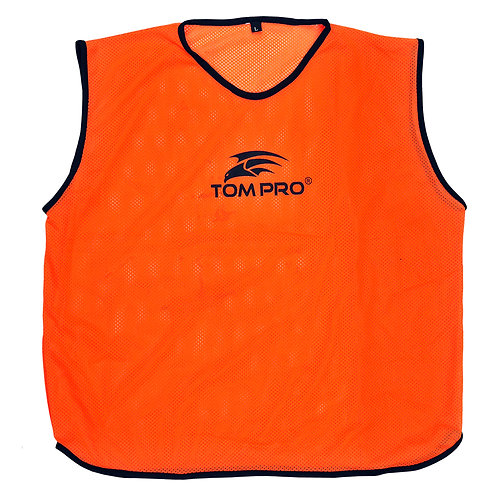 5 X Tompro AirPlus Training Mesh Bibs Vests Florescent Orange Mens One Size