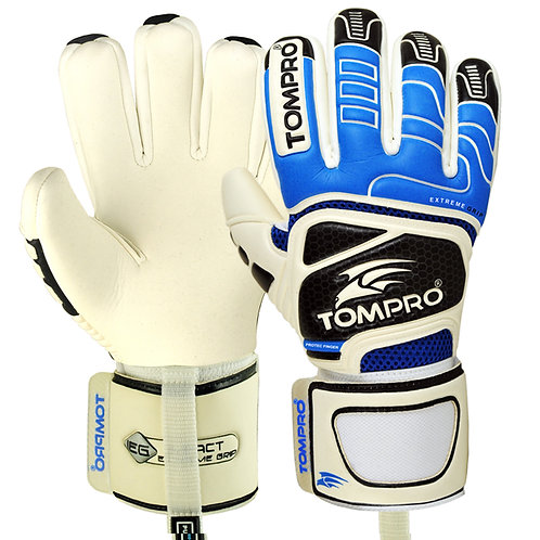 Tompro Extreme Grip Negative Cut Goalie Goalkeeper Gloves Royal Blue/Black