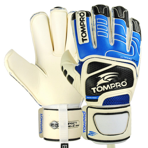 e2b1d1d8a Tompro's Extreme Grip features Removable Finger Protection Pre-Curved Roll Finger  Soccer Goalie Gloves used Giga Grip latex technology that is ...