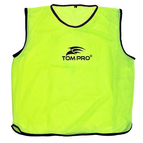 5 X Tompro AirPlus Training Mesh Bibs Vests Florescent Green Mens