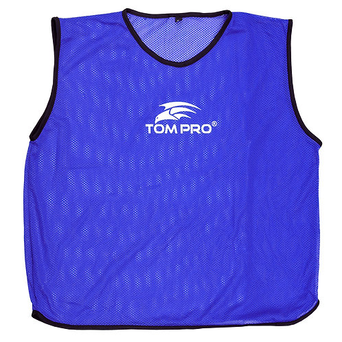 5 X Tompro AirPlus Training Mesh Bibs Vests Blue Mens One Size