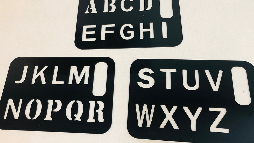 Set of 3 Large letter Stencil for beginners