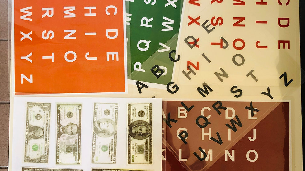 Laminated Letterboard and Currency board