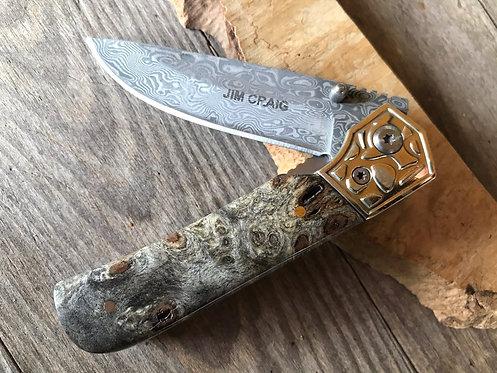 Dyed Birdseye Maple Gentleman's Pocket Knife
