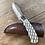 Handmade Alligator Gar utility knife with cowhide sheath