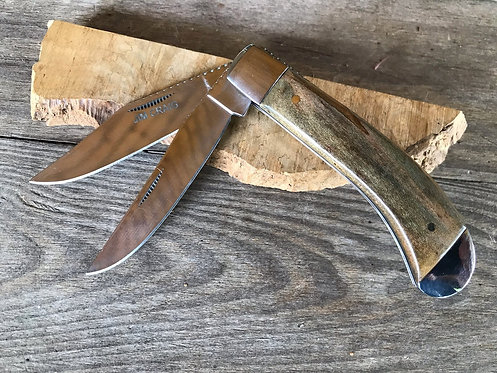 Dyed Persimmon Trapper Knife