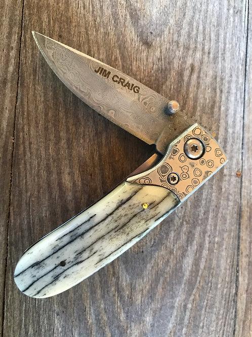 Giraffe Bone Pocket Knife
