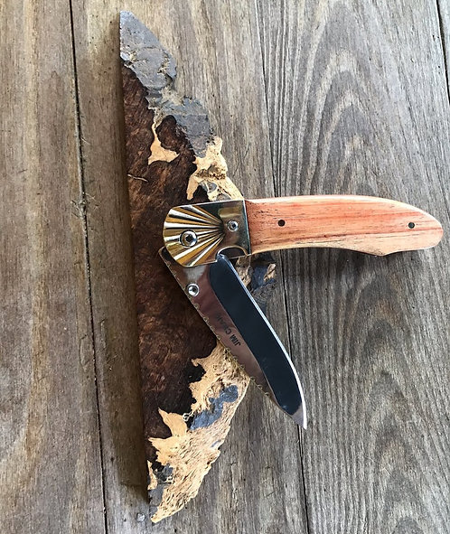 Unique handmade Tulipwood folding pocket knife