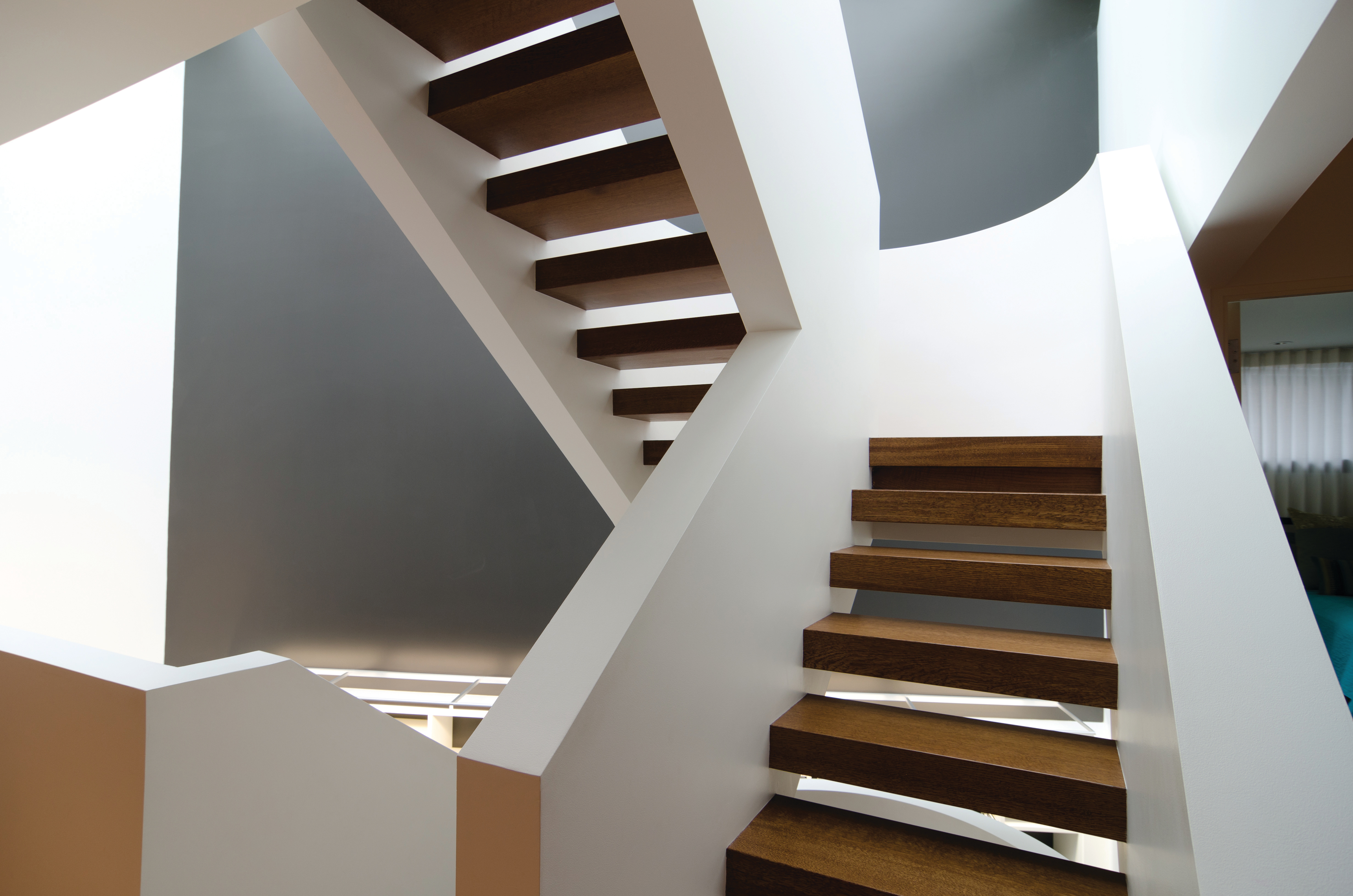 Three-Story Staircase