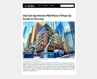 City Club Apartments MDA Phase II Wraps Up Facade In The Loop