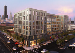 Rendering of 1461 S Blue Island from the southwest