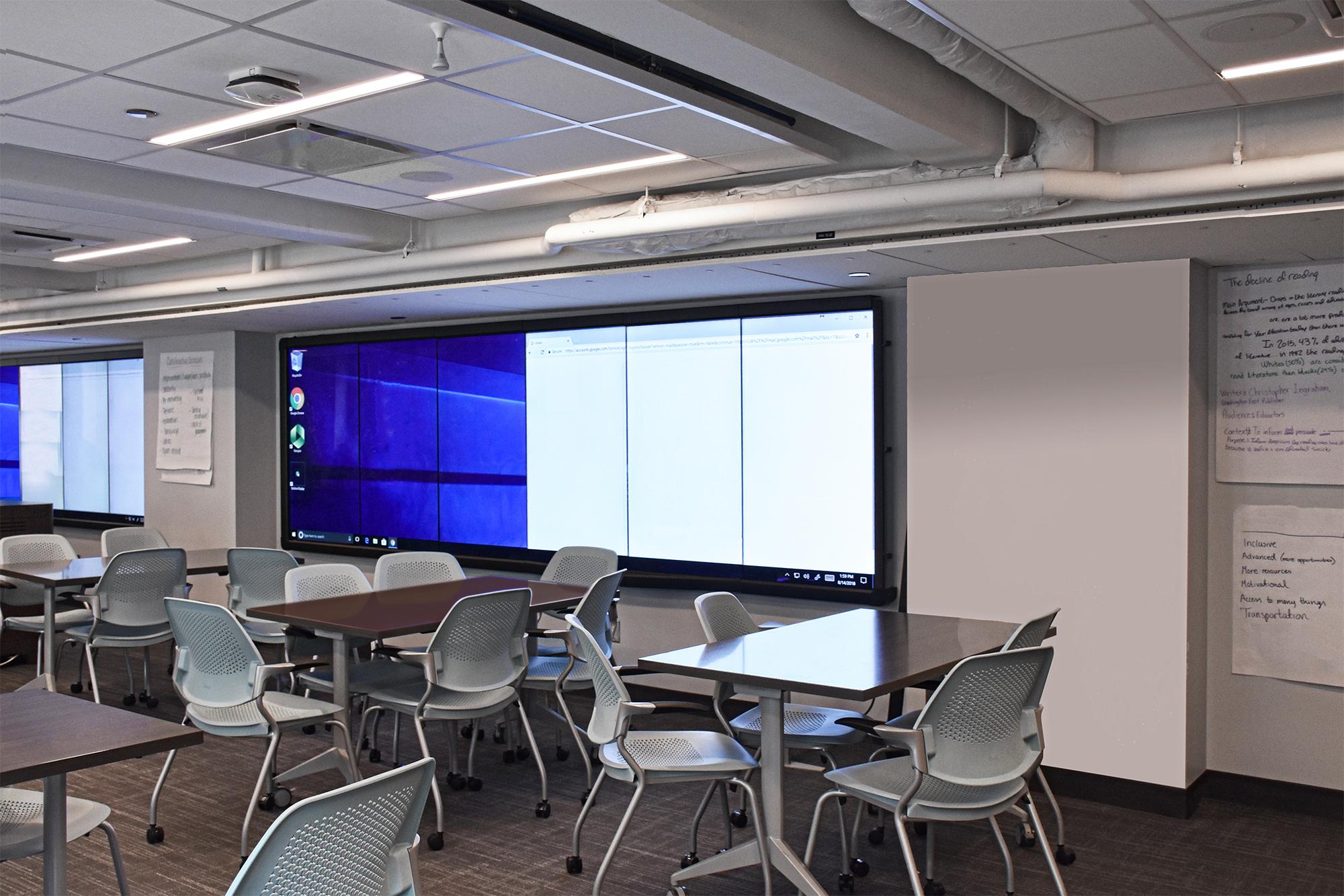 16th Floor Classroom Screens