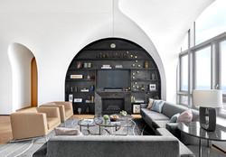 Living Room Blackened Steel Bookcase