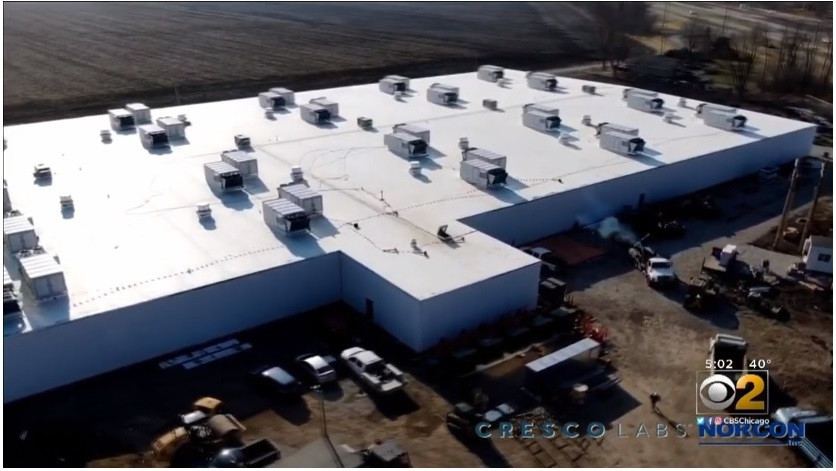 Drone image of Norcon project for Cresco Labs