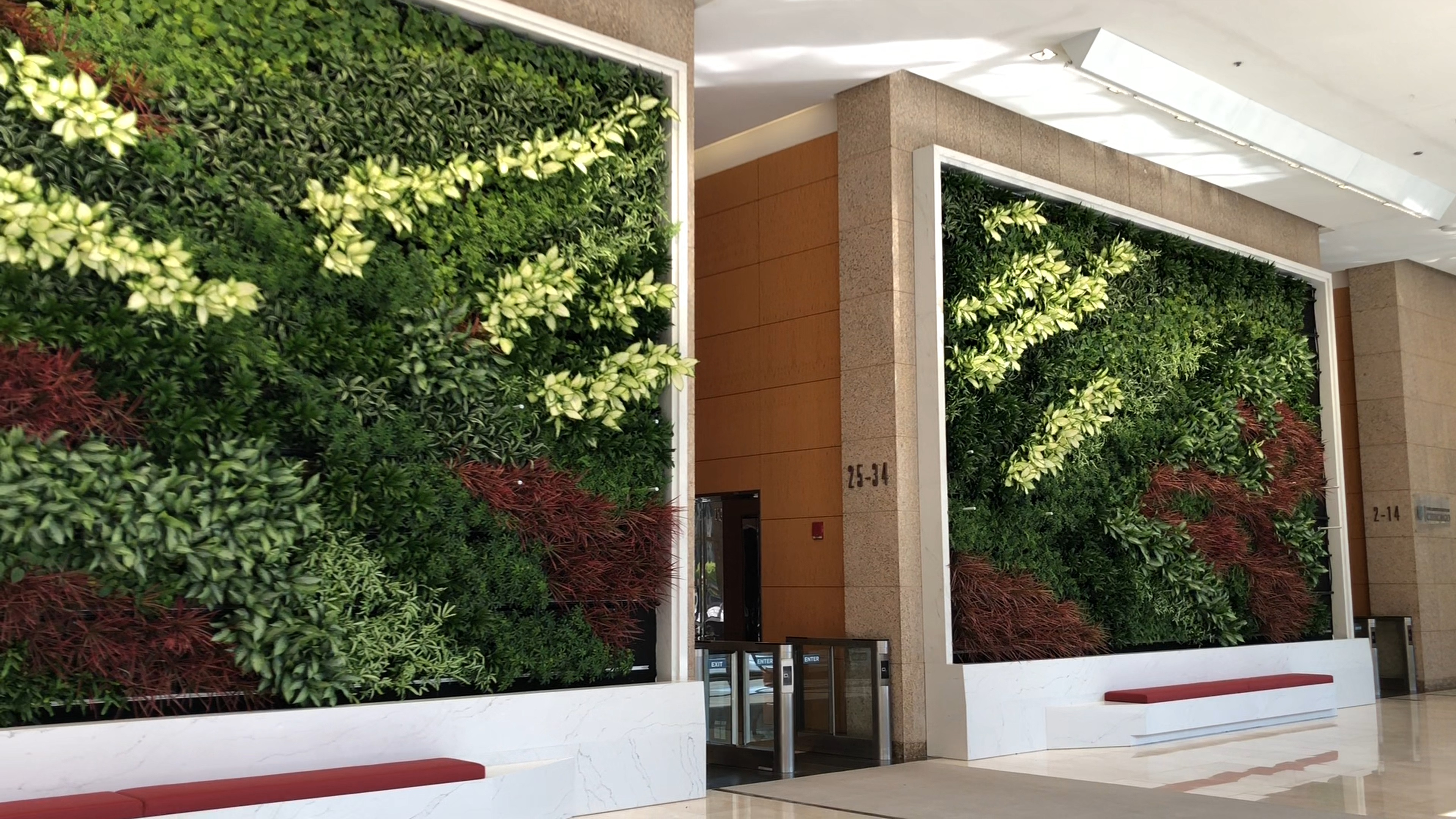 401 N Michigan Lobby Living Green Wall