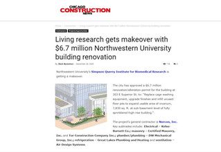 Living research gets makeover with $6.7 million Northwestern University building renovation