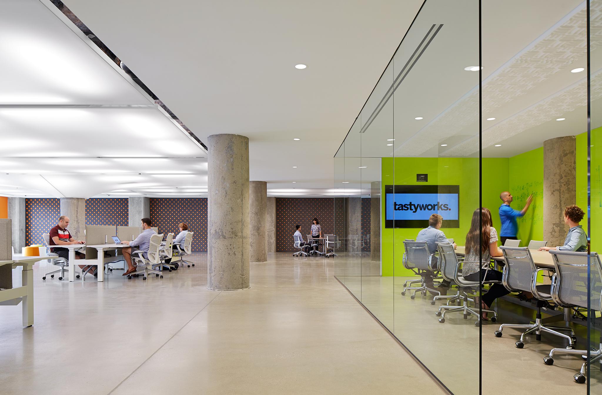 Open Office with Work Zones