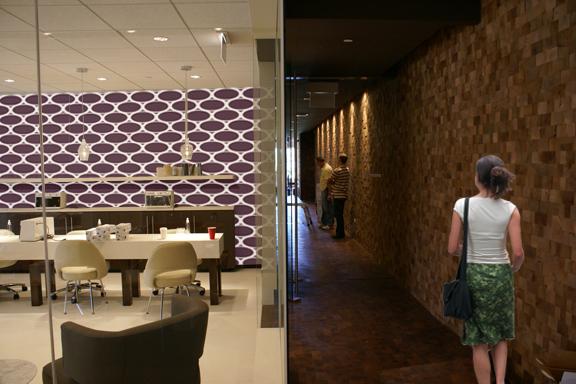 Salon and Corridor