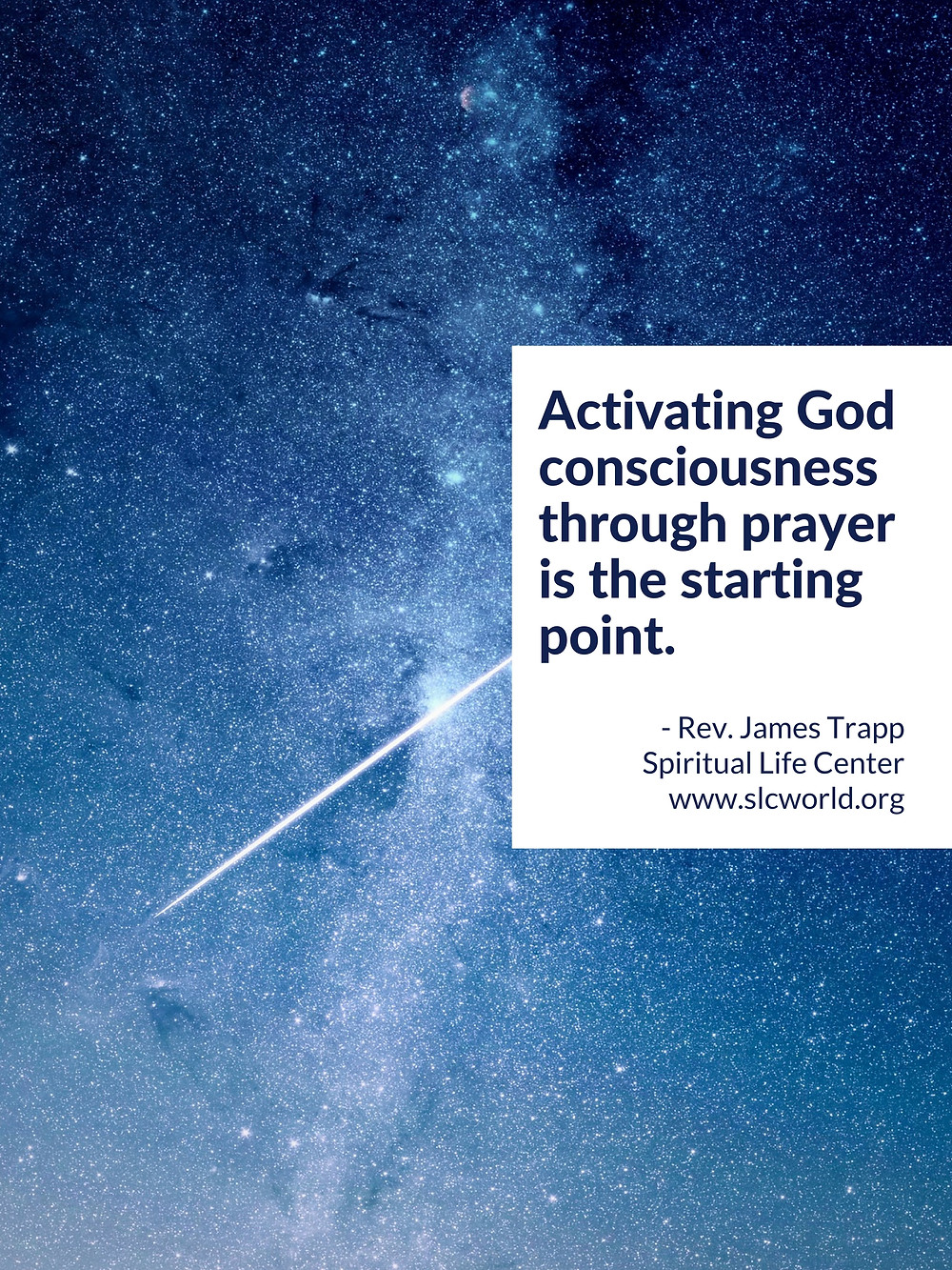 God consciousness quote Rev. James Trapp