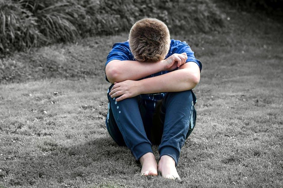 grieving teen