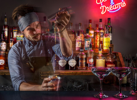 Commercial Photography at a Brand New Cocktail Bar in Frome