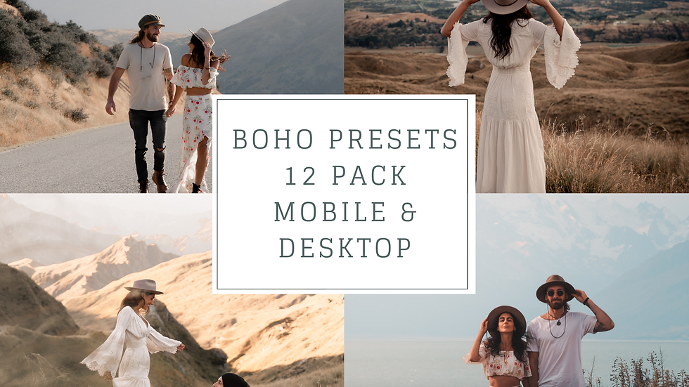 Boho Presets - Desktop & Mobile 24 x Pack