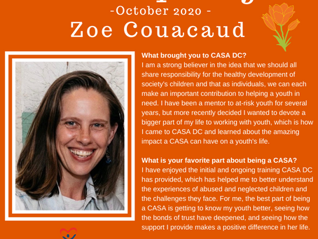 Volunteer Spotlight: October 2020