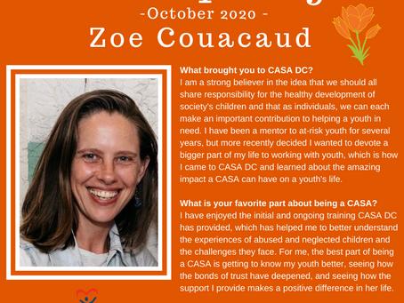 Volunteer Spotlight: October 2020