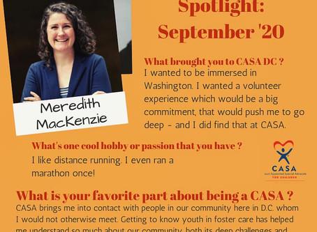 Volunteer Spotlight: September 2020