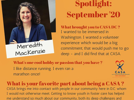 Volunteer Spotlight: September 2020