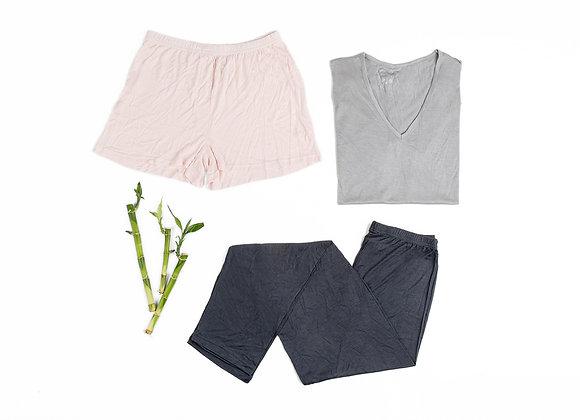 מכנס פיג'מה קצר 100% במבוק- מושלם!