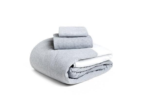 סט מיטת יחיד: ציפה, ציפית וסדין 100% כותנה I תום תום