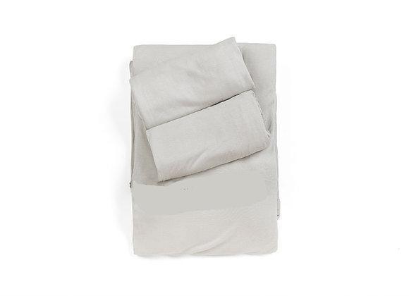 סט למיטה זוגית- 2 ציפיות וציפה, 100% במבוק אורגני