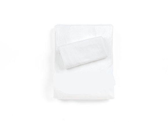 סט מלא למיטת יחיד - ציפית, ציפה, וסדין 100% במבוק אורגני