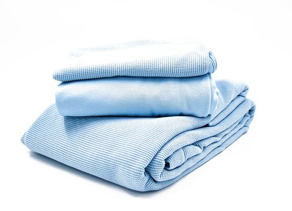 סט מיטה יחיד 100% כותנה אורגנית/ דגם וופל