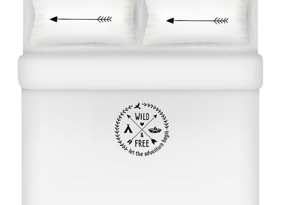 Adventure סט מיטה מודפס זוגי/ יחיד- 100% במבוק אורגני. דגם