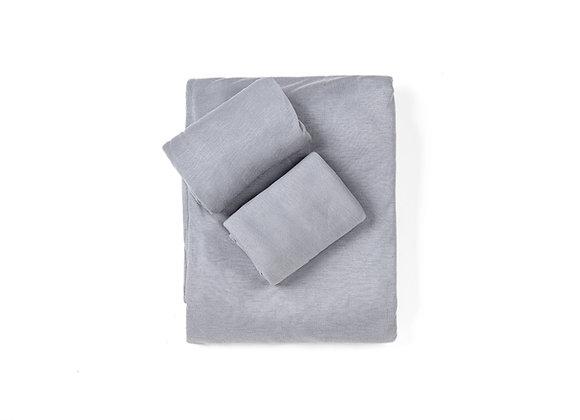 סט  מלא למיטה זוגית- 2 ציפיות סדין וציפה, 100% במבוק אורגני