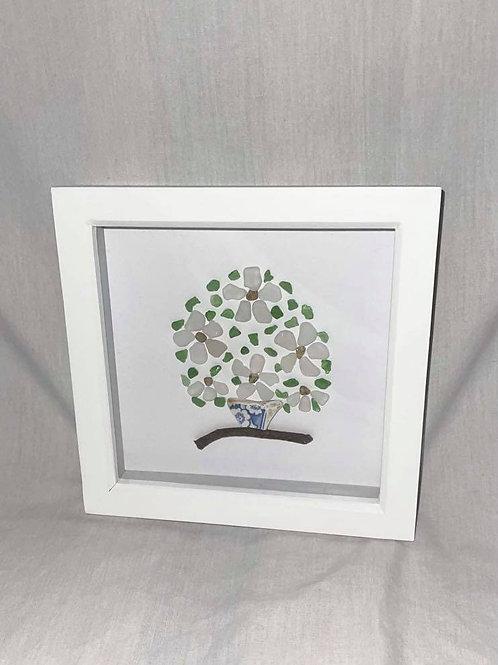 Small Seaglass Flower Basket