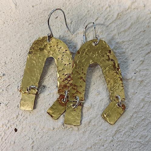 Gold 'N' Shape Earrings