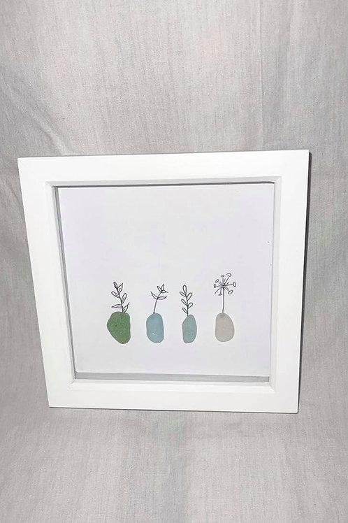 Small Seaglass Flower Print