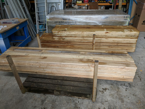 Freshly cut wood