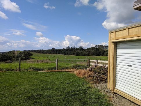 Lawn mower shed