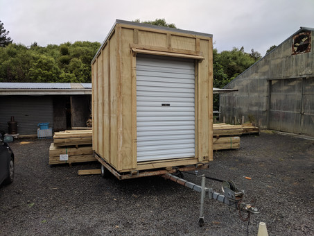 Shed on trailer